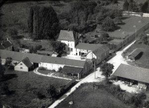 Château du Bâtiment (Ferme du Marronnier), vue aérienne